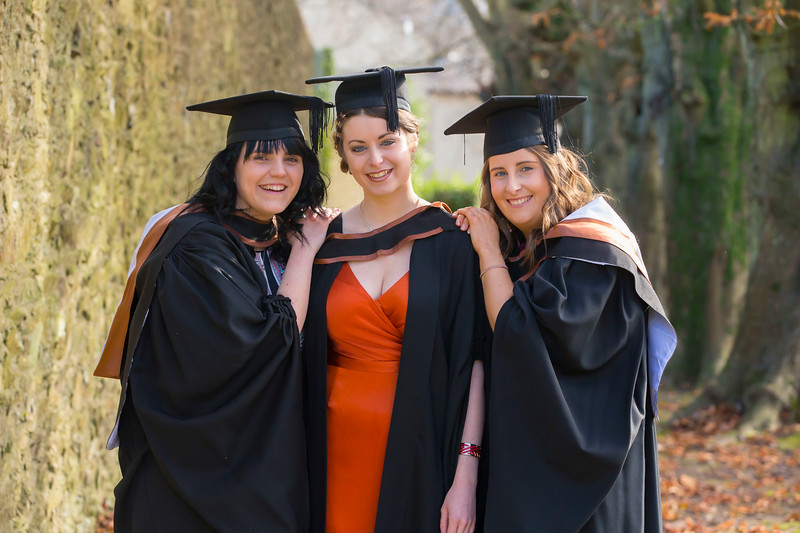 02/11/2017. Waterford Institute of Technology Conferring. Pictured are Melissa Wynne Carlow, Jasmine Smyth Killurin, Co. Wexford and Jessica Norton Kilkenny. Picture: Patrick Browne