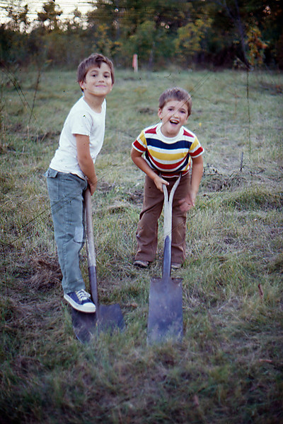 1974-09 - Breaking ground - Randy and Jeff
