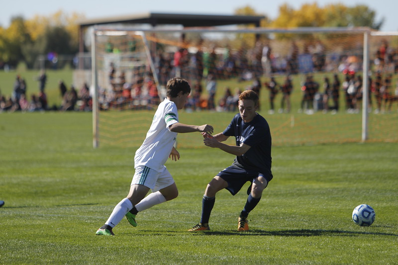 The second half of the Moriarity High School vs Santa Fe Prep boys game at the State Soccer Tournament on Thursday, November 2, 2017, at the Bernalillo Soccer Complex. Prep lost 3-0. Luis Sánchez Saturno/The New Mexican