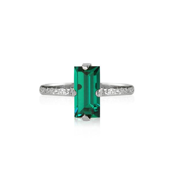 Baguette Ring / Emerald Rhodium