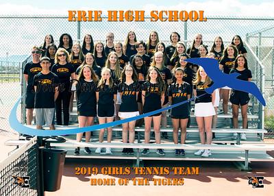 2019 EHS Girls Tennis Team Pictures