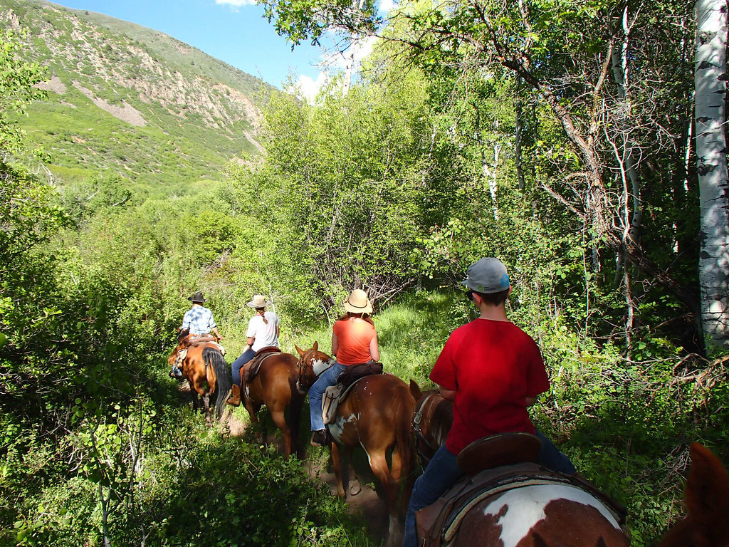 . Horseback riding is one of the many activities available at Smith Fork Ranch near Crawford, Colorado.  Photo provided by Kara Williams