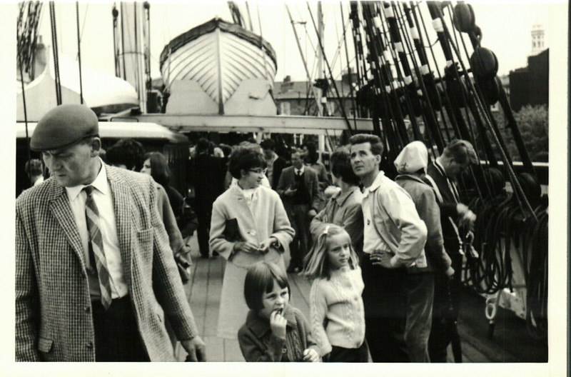 Sheila, Jean, Janice, Norma and Albert at the Cutty Sark