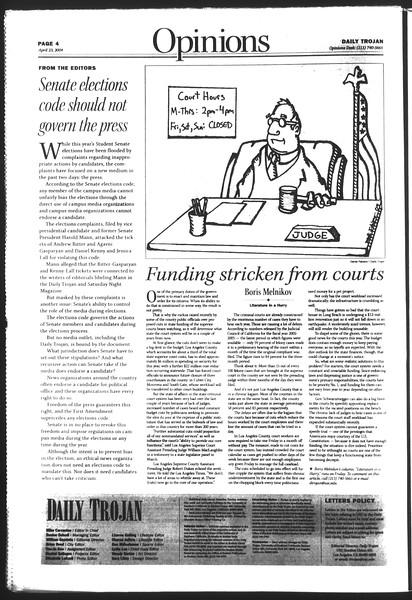 Daily Trojan, Vol. 151, No. 63, April 23, 2004