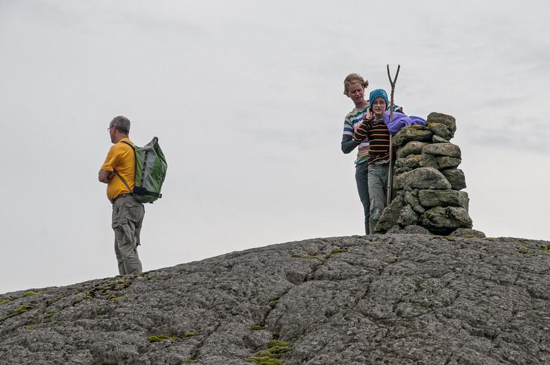 Oben auf dem Berg zog es ganz kräftig.