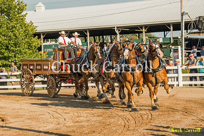 6-Horse Draft Hitch Show at The 142nd Annual Centre County Grange Fair Saturday 8-27-2016