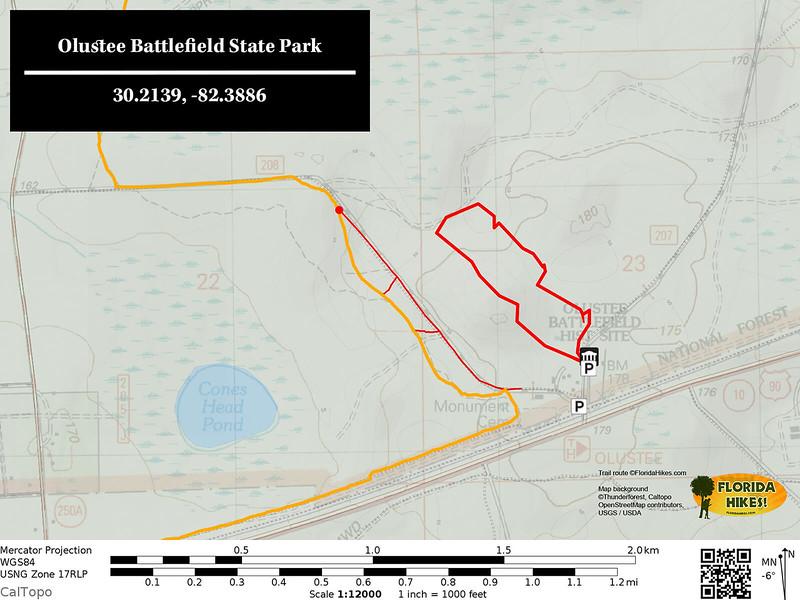 Olustee Battlefield Trail Map