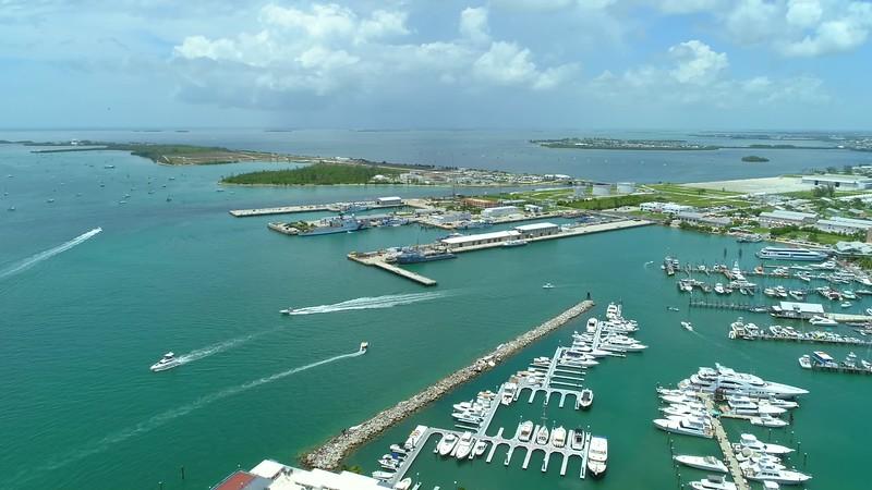 Aerial footage US Coast Guard Key West Florida 4k 24p