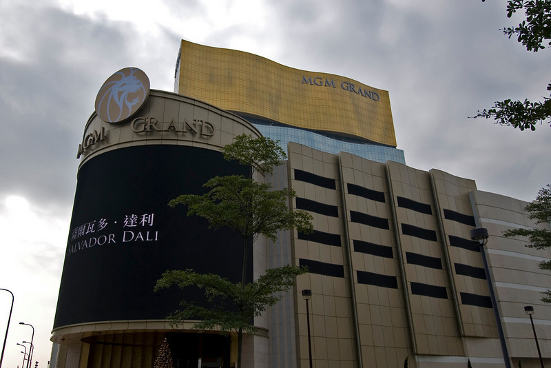 Shot outside the MGM Grand building in Macau