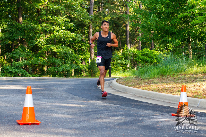 It was a warm one for the 2018 Hobbs War Eagle Trail Running Festival 10k, 25k, and 50k out at Hobbs State Park, but that didn't stop runners from sweating it out and hitting the trails with the support of volunteers supplying food, water, and motivation.