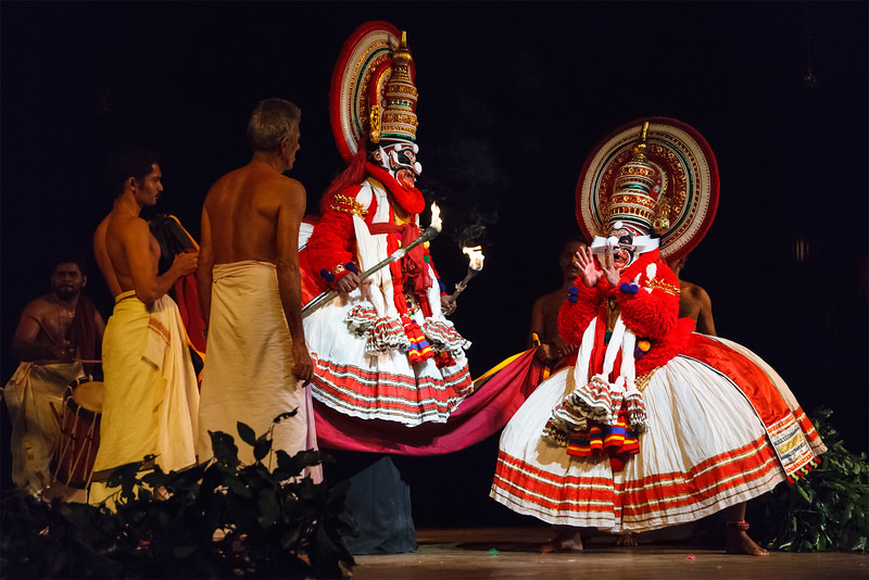 Kathakali is a famous dance-drama of south indian state of Kerala.    Monkey king Sugriva (thadi) character.  Story of Katha Bali Vadham can be read here - http://www.kathakalinews.com/storystore/003balivadham.asp