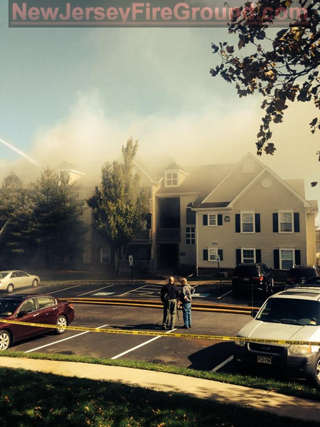 10-24-2014(Camden County)VOORHEES 3600 blk Avalon Court Apartments-2nd Alarm Building