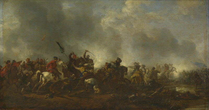 Cavalry attacking Infantry
