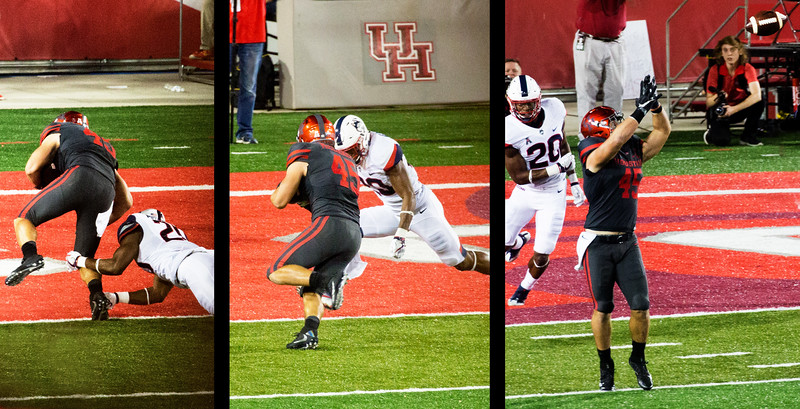 Right to Left: Ward to McCloskey for another UH Touchdown