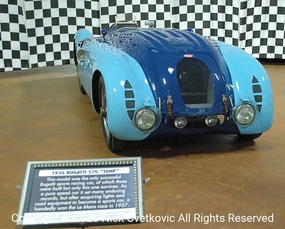 """1936 Bugattis S76 """"tank""""; winner of 1937 LeMans"""