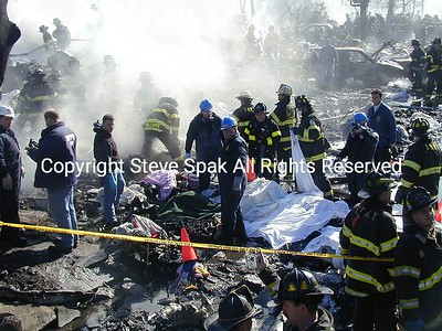 11-12-01 Flight 587 Plane Crash at Newport Ave & Beach 131 Street in Belle Harbor, Queens