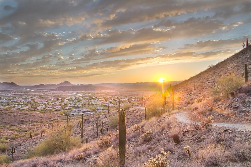 Arizona Sunset and Hiking Trail