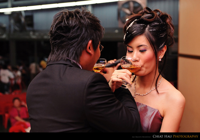 a toast for the couples themselves