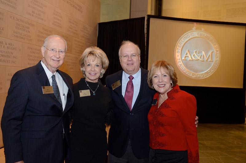 Ed Davis '67, Kay Rice, Karl Rove, Jo Ann Davis
