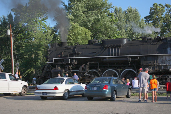 Nickel Plate 765 Stops in Logansport