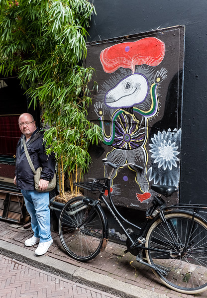 Vince With Some Amsterdam Street Art