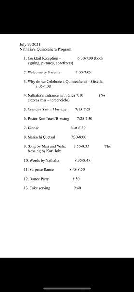 7-9-2021 Smith Quinceanera Part 2