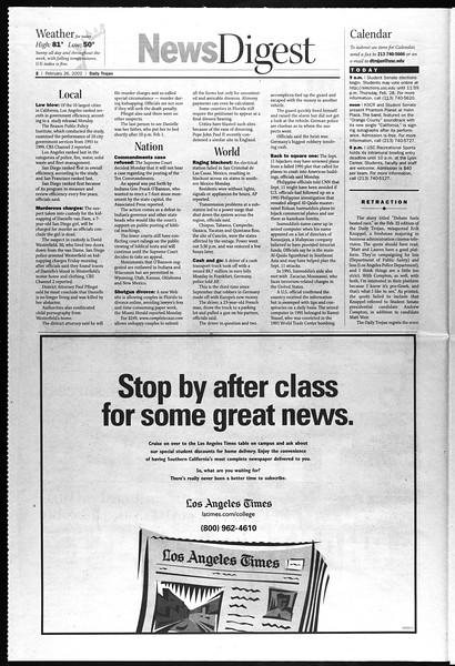 Daily Trojan, Vol. 145, No. 32, February 26, 2002