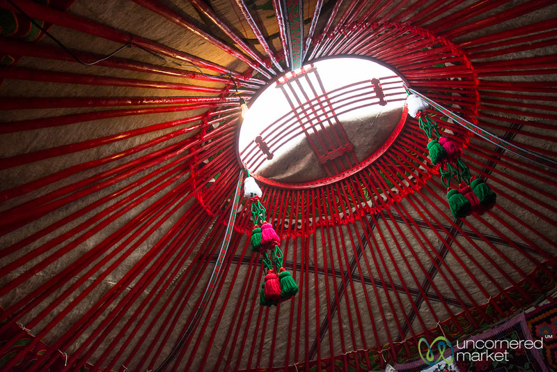 Inside a Yurt, Looking Up - Kyrchyn Gorge, World Nomad Games 2016