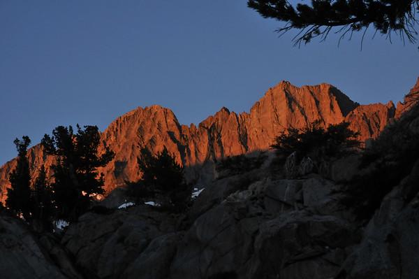 Middle Palisade Peak August 11, 2010