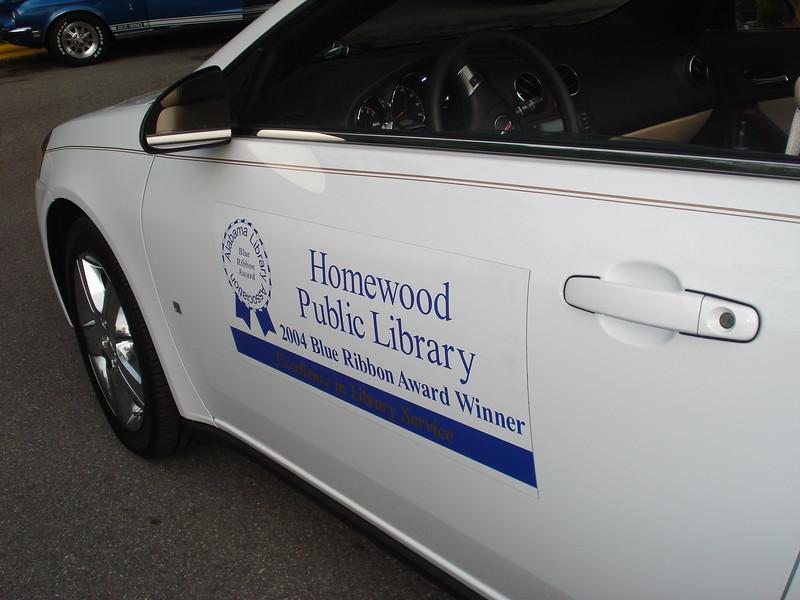 Homewood Public Library's 2009 Pontiac G6 Convertible from Crown Pontiac.jpg