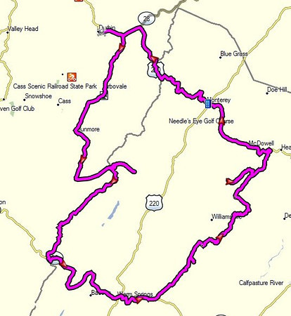 Saturday's 172-mile route.
