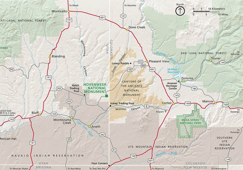 Hovenweep National Monument (Location Map)