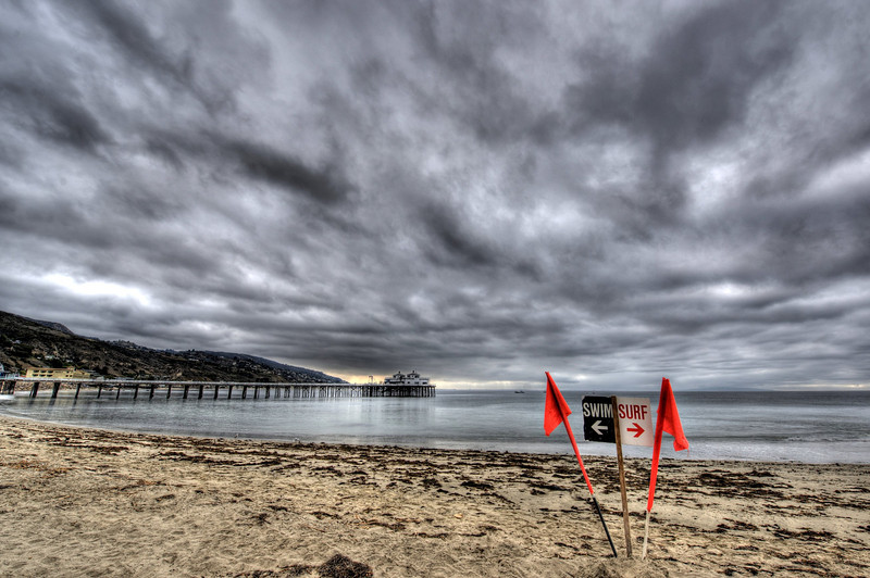 Seascape with The Malibu Pier! Scenic HDR Landscapes of Malibu Shot with the Nikon D3X