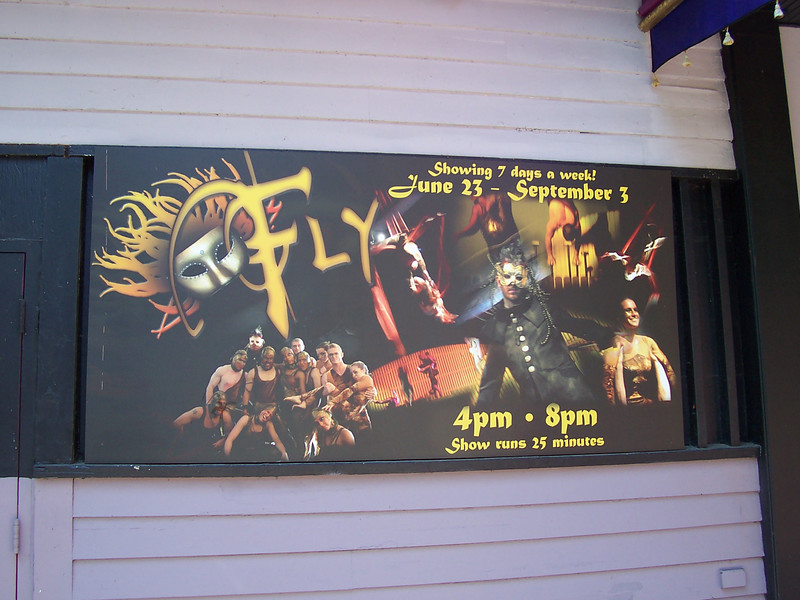 Fly poster outside the Dancehall Theatre.