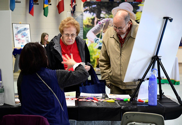 3/7/2020 Mike Orazzi | Staff Frances and Peter Achilli during The Central Connecticut Chambers of Commerce's Family Health and Wellness Expo held at Bristol Eastern High School on Saturday.