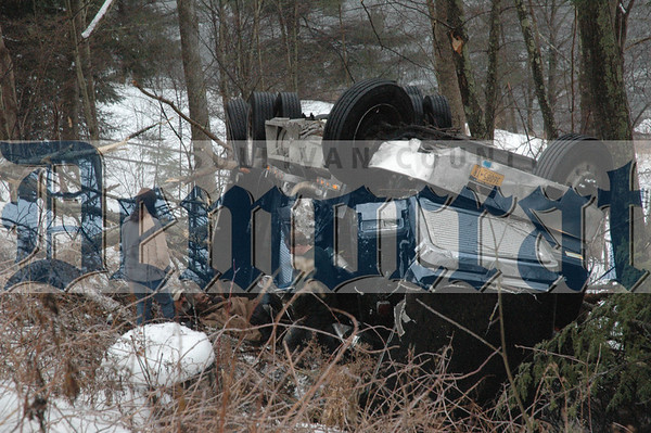 Tractor Trailer Roll-over Route 97