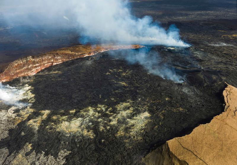 Wider view of the caldera at Kilauea.