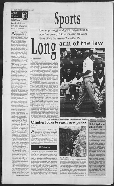 Daily Trojan, Vol. 130, No. 5, January 15, 1997