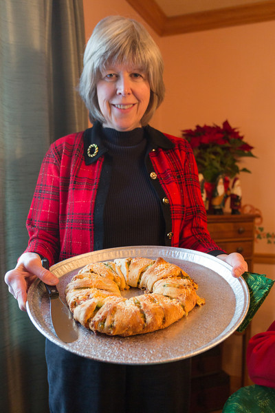 Mom's ham and broccoli crescent roll thing.