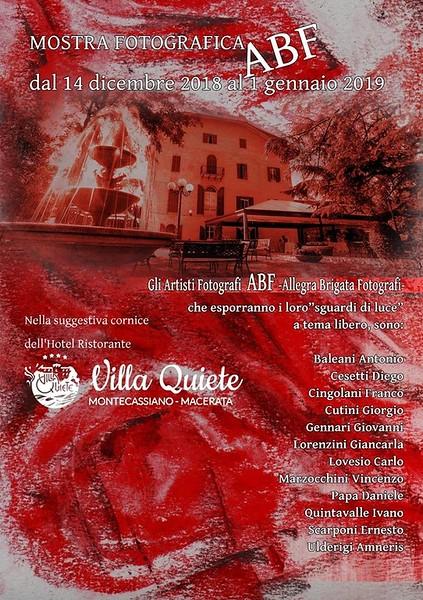 ABF mostra collettiva Villa Quiete