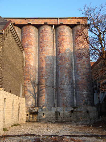 Very old hops silos for Pabst Brewery.