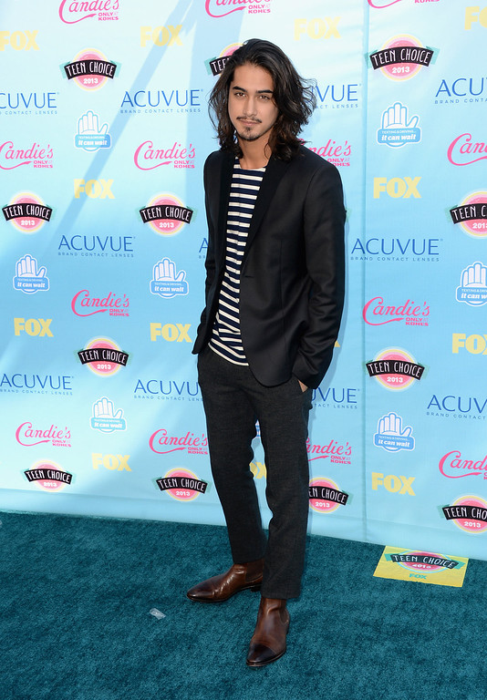 . Actor Avan Jogia attends the Teen Choice Awards 2013 at Gibson Amphitheatre on August 11, 2013 in Universal City, California.  (Photo by Jason Merritt/Getty Images)