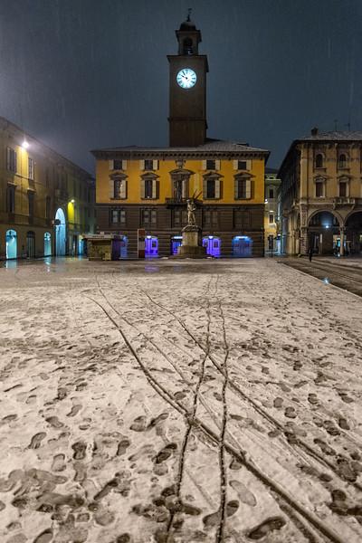 Prampolini Square - Reggio Emilia, Italy - January 20, 2019