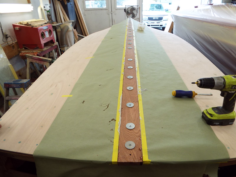 Rear view of the keel cap installed.