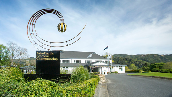 Photo of the Royal Wellington Golf Club immediately prior to the hosting of the Asia-Pacific Amateur Championship tournament 2017 held in Heretaunga, Upper Hutt, New Zealand in late October 2017. Copyright John Mathews 2017.   www.megasportmedia.co.nz