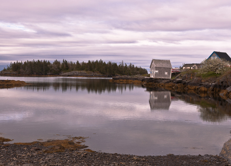 End of our road - boat house on the island.