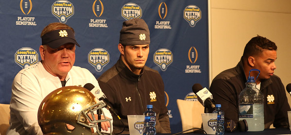 Notre Dame Christmas Eve Presser and Practice