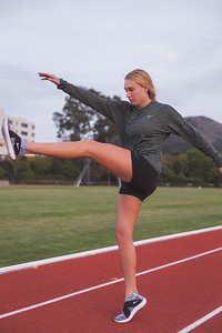 Hannah Running on Track