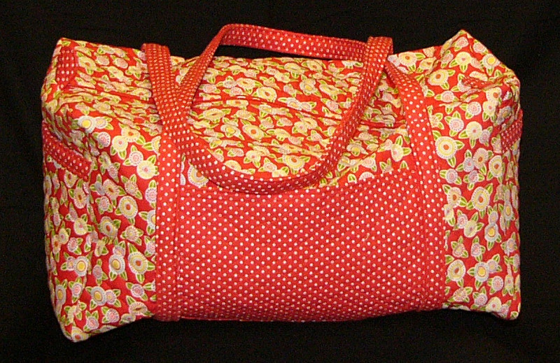 Quilted Duffel Bag with Kim Parker