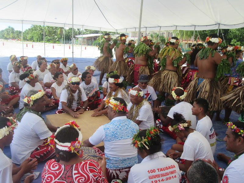 024_Funafuti. Community Hall (Falekaupule). Traditional dance.JPG